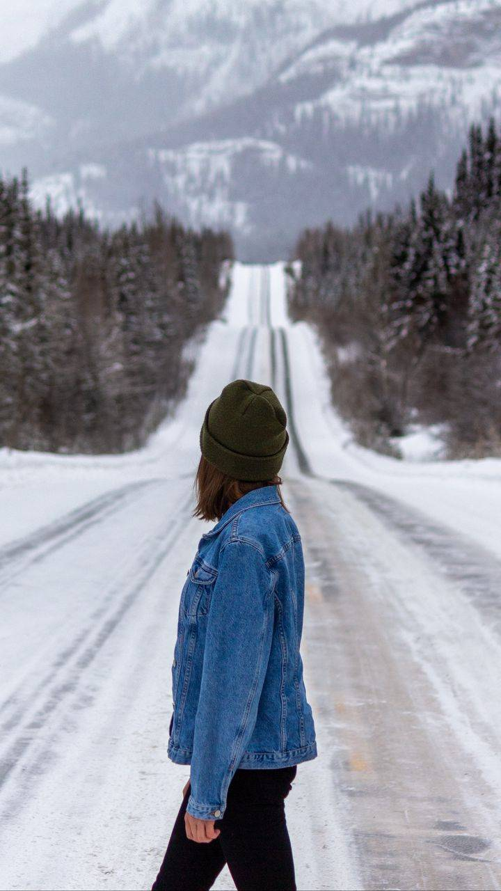 Ice Road and Girl