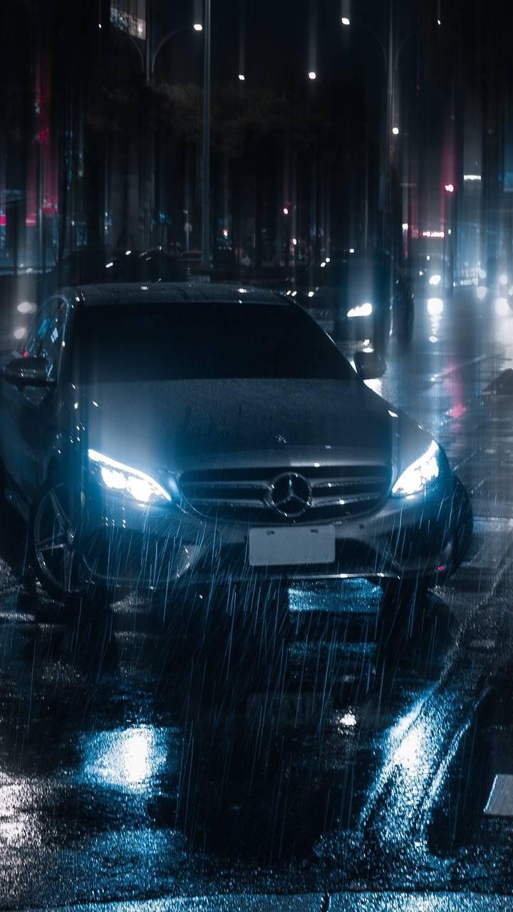 Mercedes Car Night