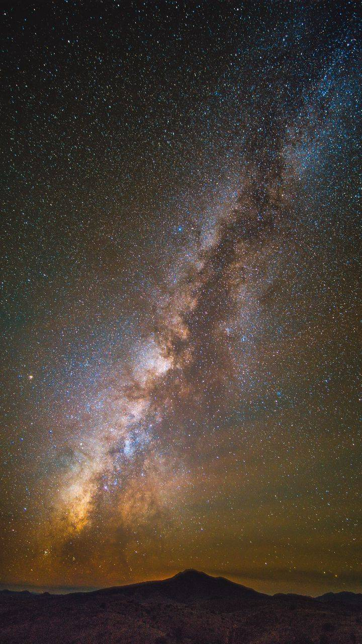 Milky Way Space View from Earth