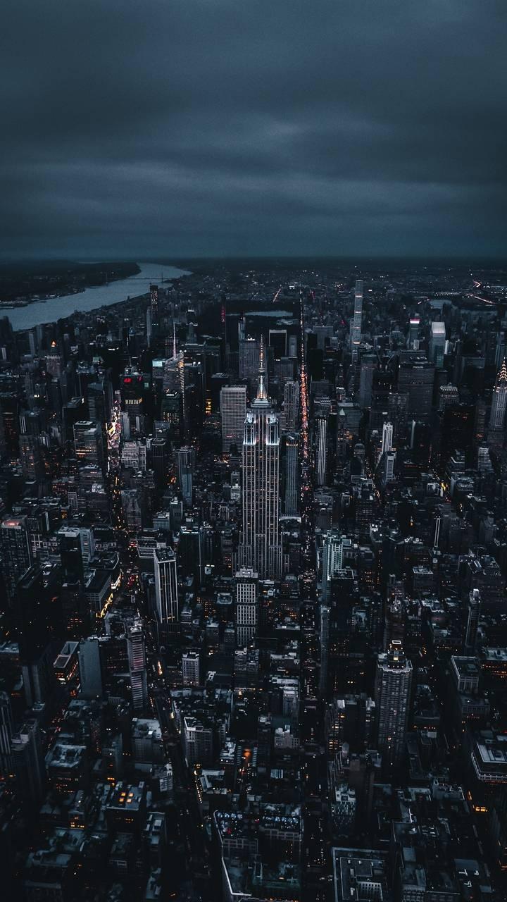 New York City Dark Clouds