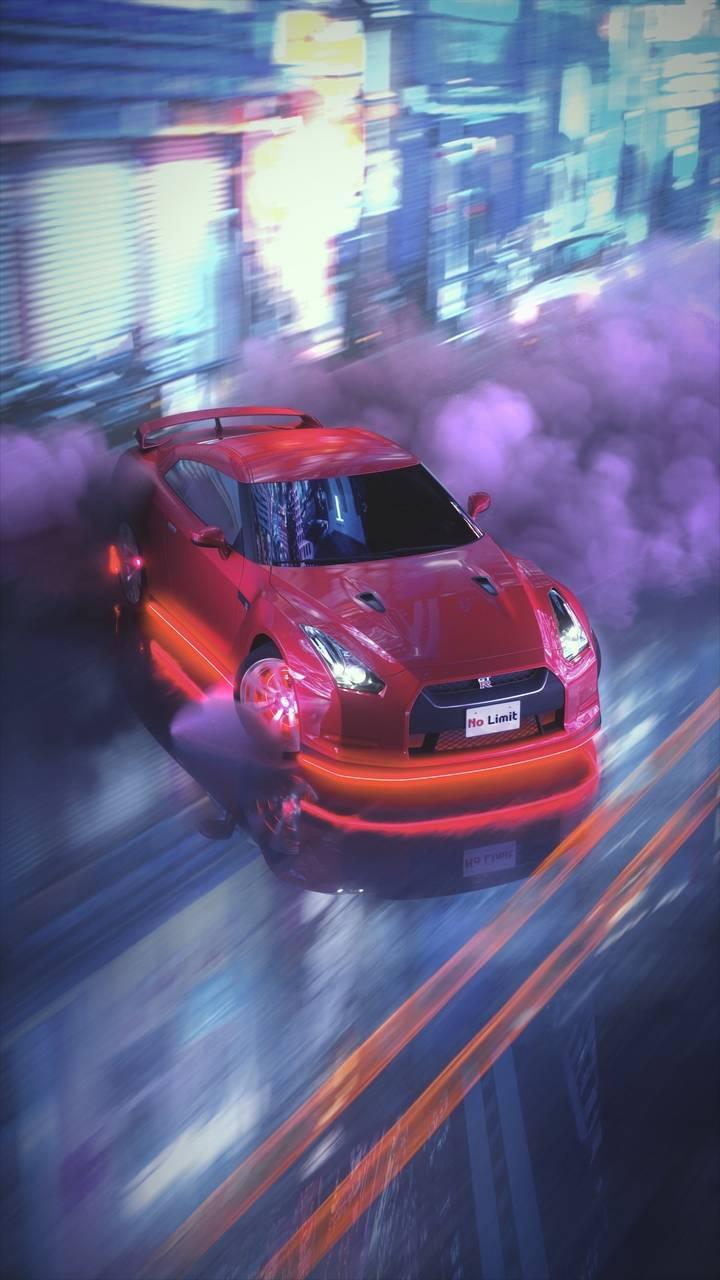 Nissan GTR Drifting