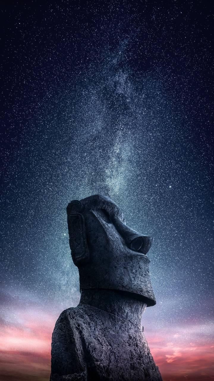 Sculpture Starry Sky Stone