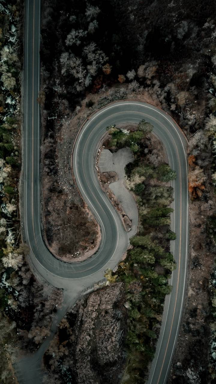 Twisted Road Aerial View