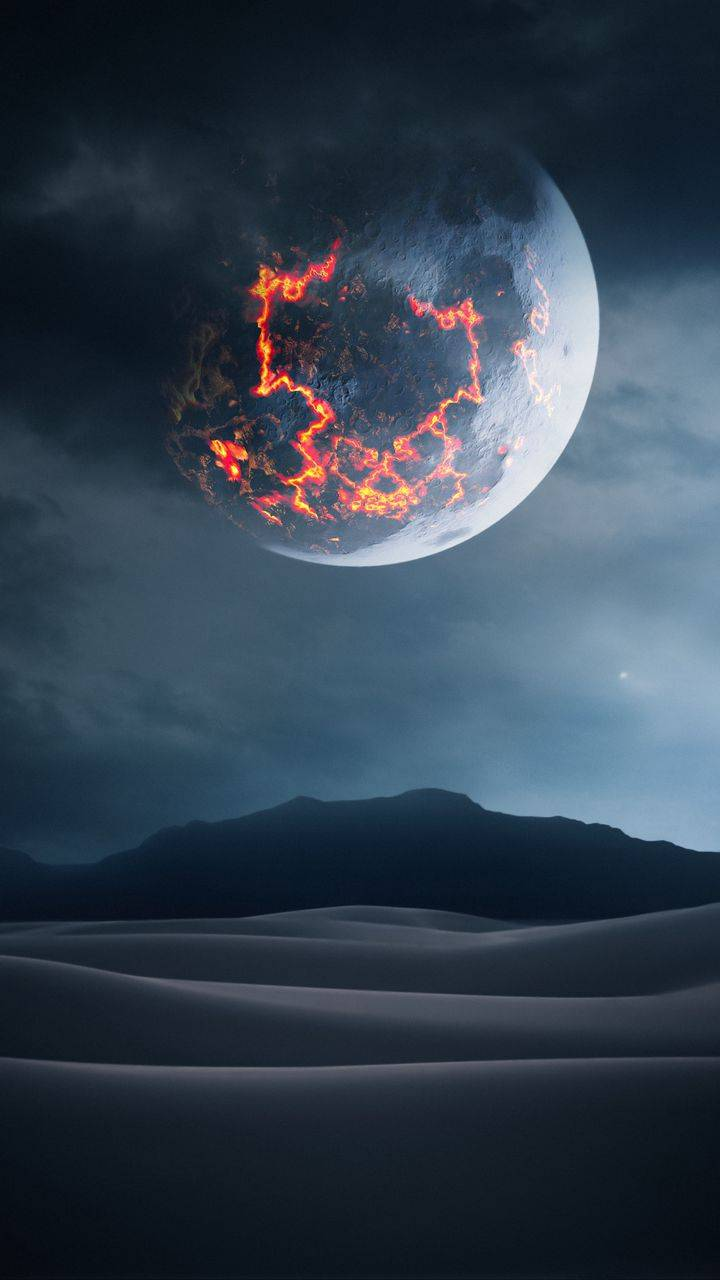 Volcanic Moon