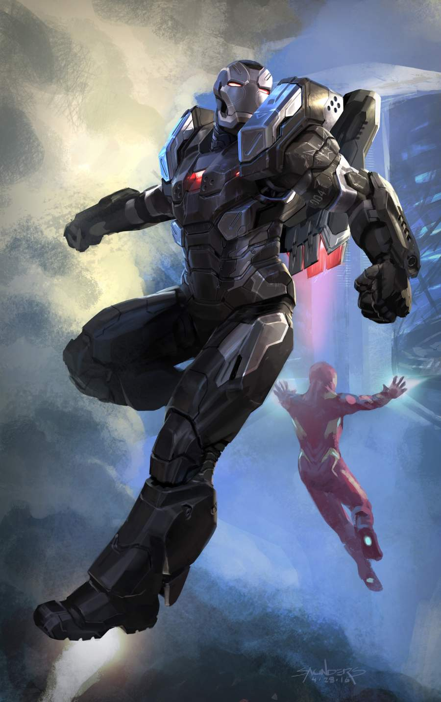 War Machine with Iron Man