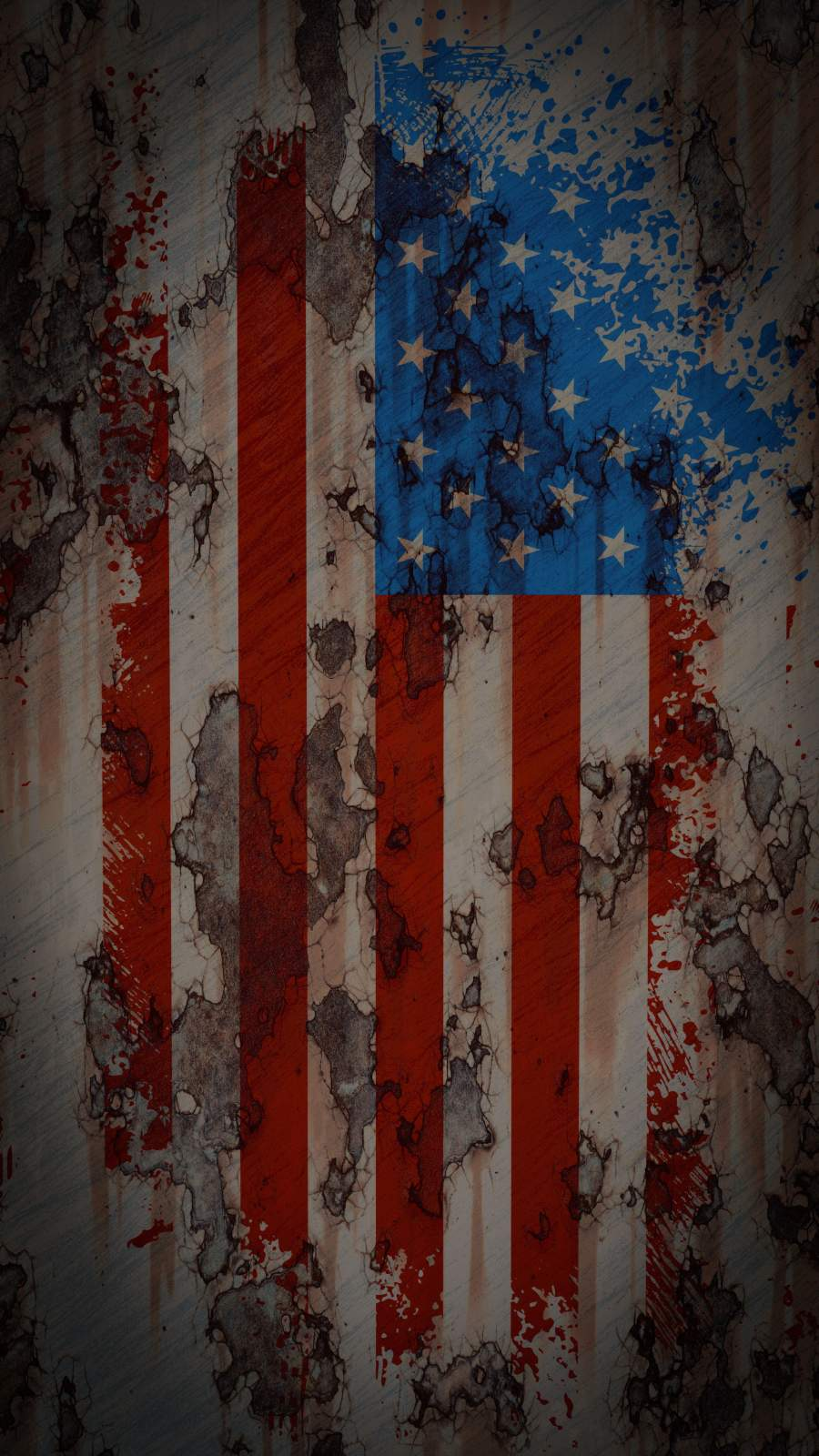 American Flag Rusted Texture iPhone Wallpaper
