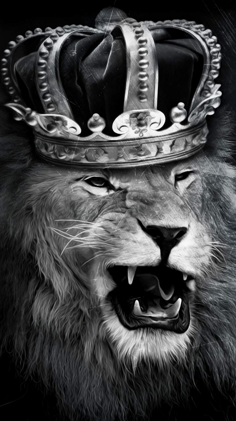 Angry Lion King iPhone Wallpaper