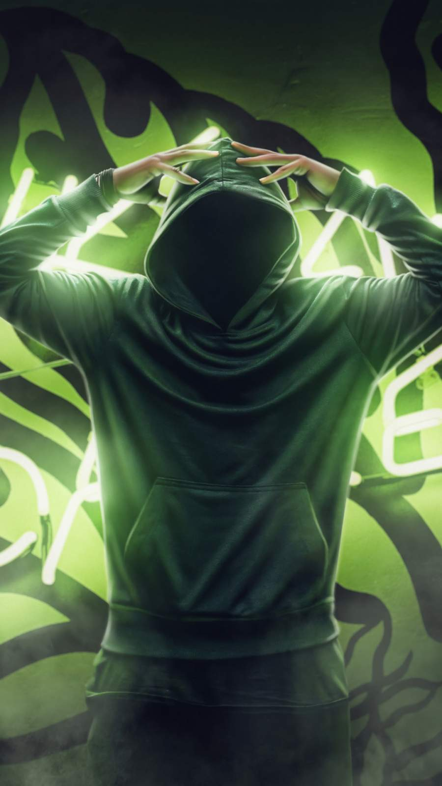 Anonymus Guy Green Powers iPhone Wallpaper