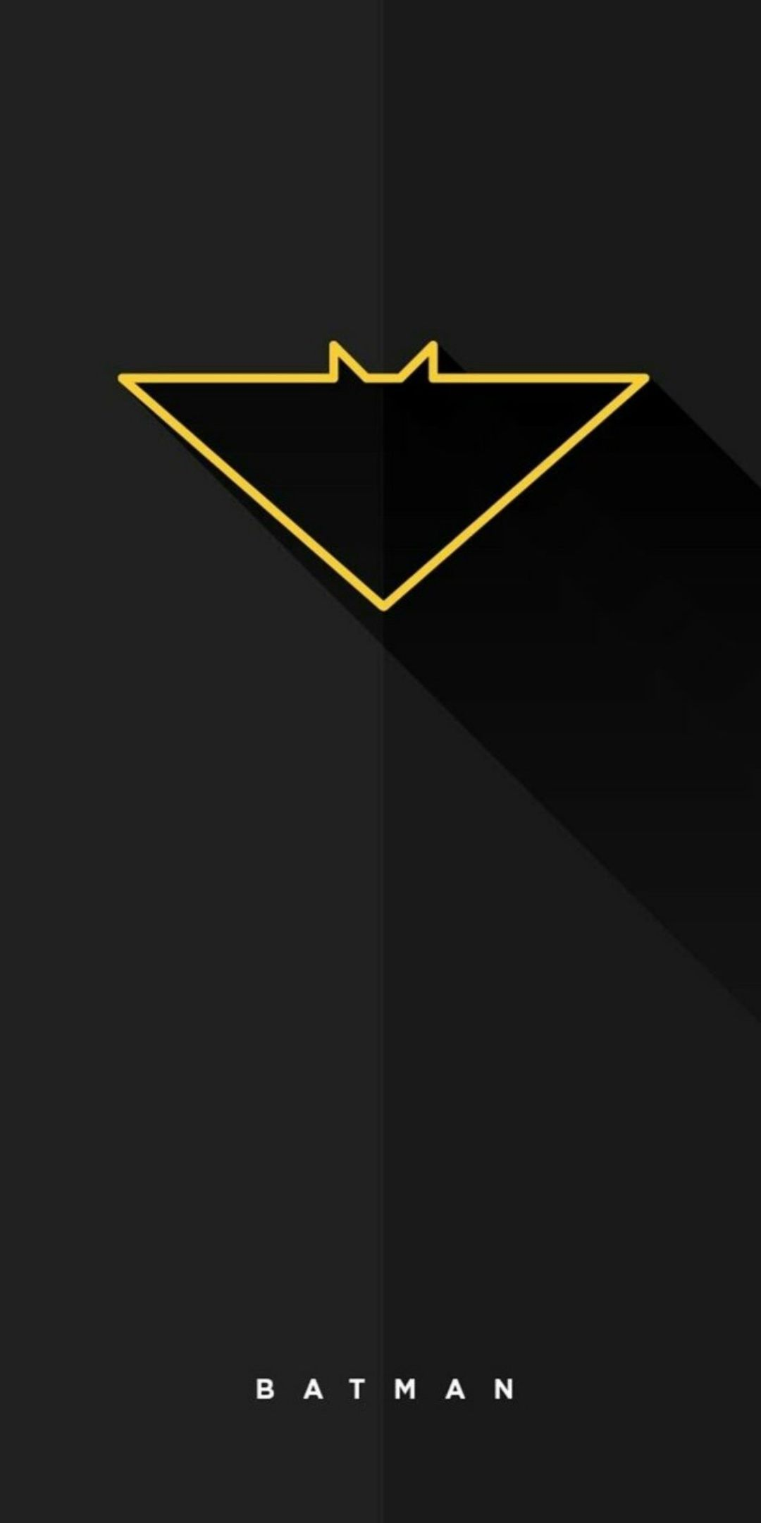 Batman Minimal iPhone Wallpaper