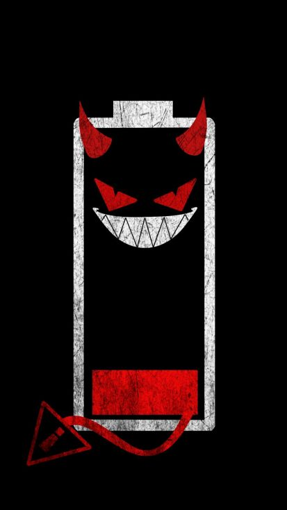 Battery Monster iPhone Wallpaper
