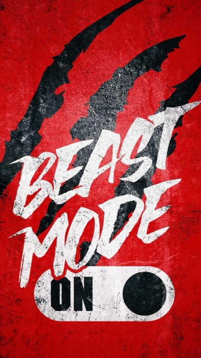 Beast Mode ON iPhone Wallpaper