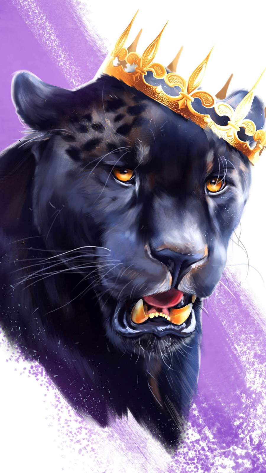 Black Panther King Animal iPhone Wallpaper