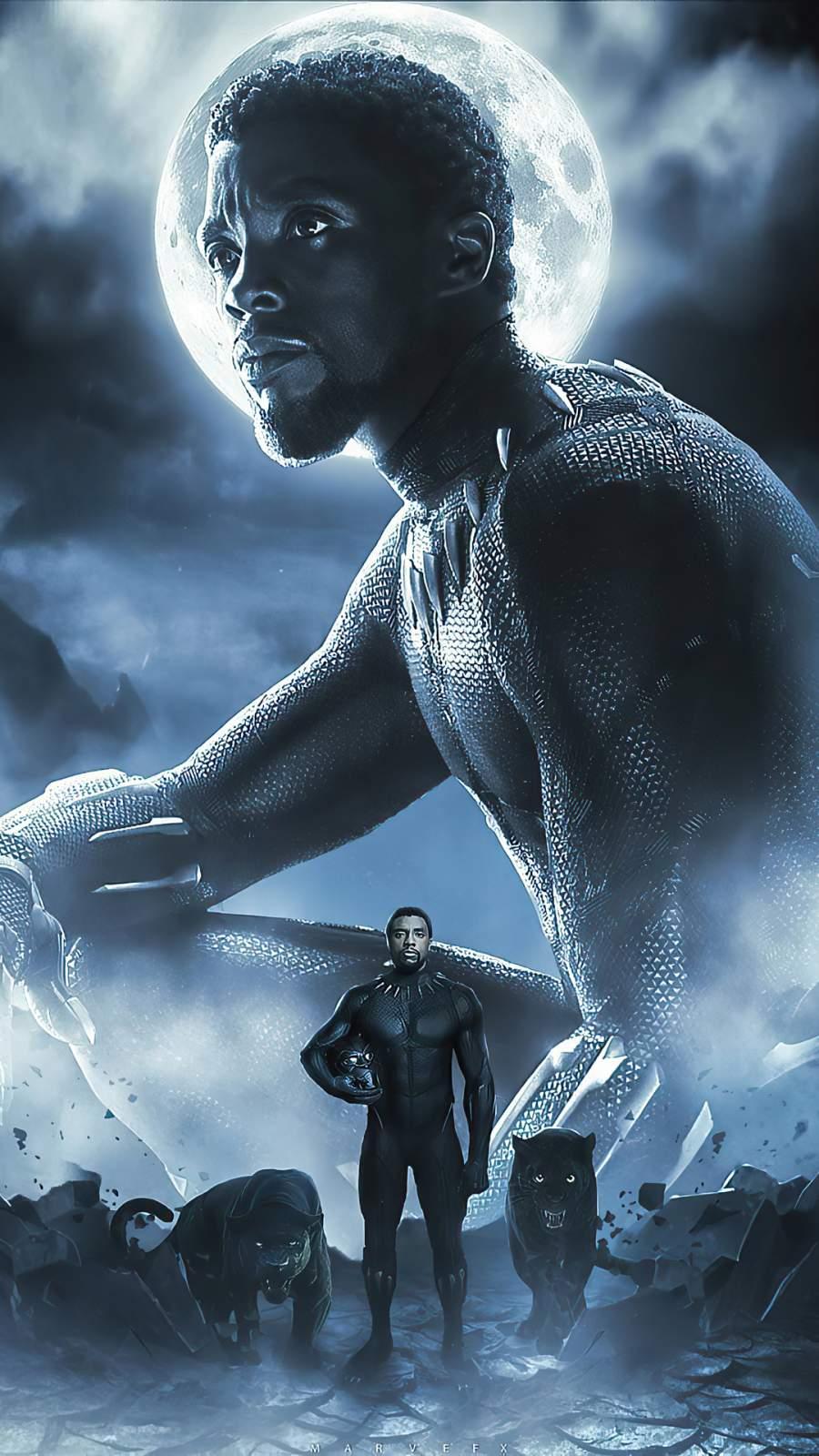 Black Panther King iPhone Wallpaper