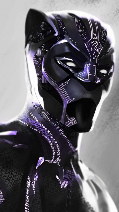 Black Panther Vibranium Suit iPhone Wallpaper