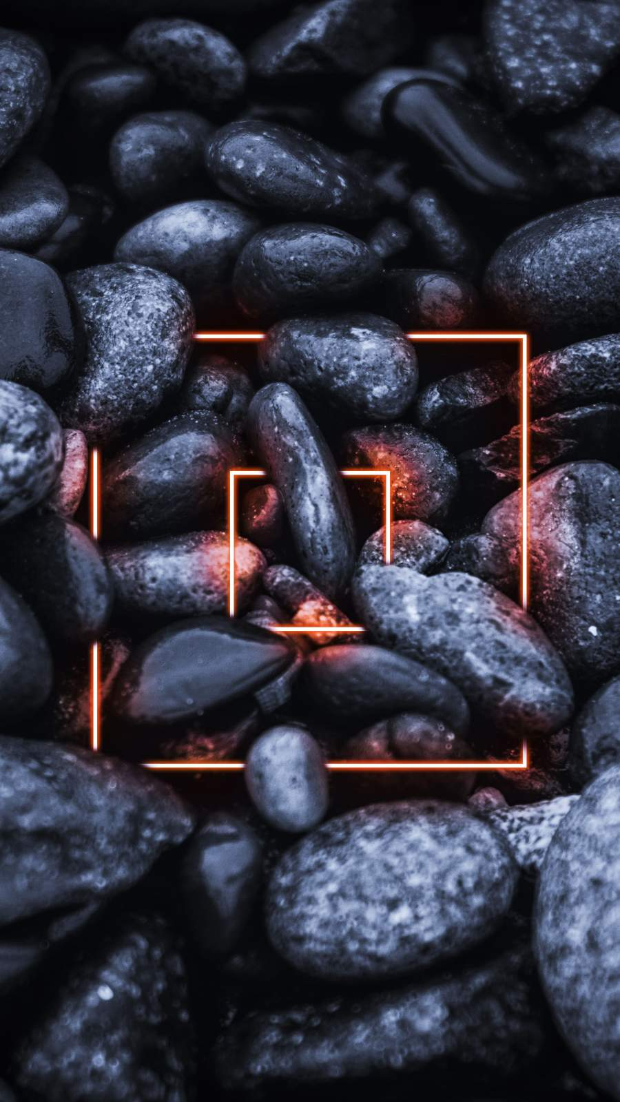 Black Stones Neon Light iPhone Wallpaper