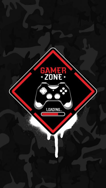 Camouflage Gamer Zone iPhone Wallpaper