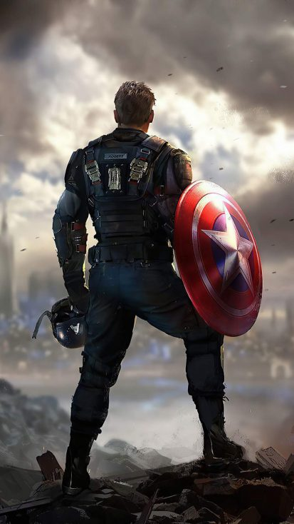 Captain America Marvels Avengers iPhone Wallpaper
