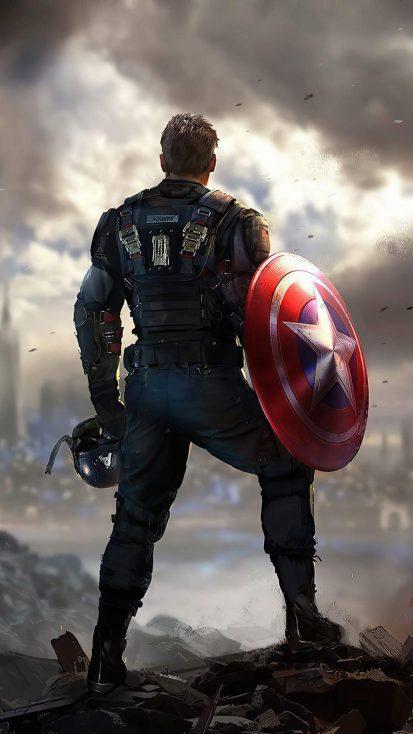 Captain America Marvels Avengers iPhone Wallpaper