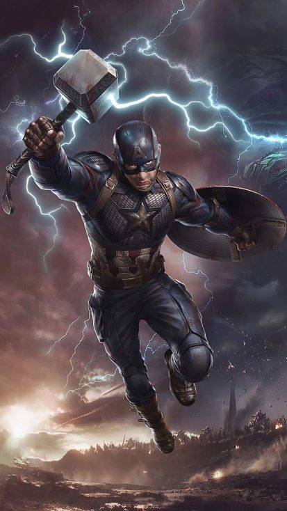 Captain America Powers iPhone Wallpaper