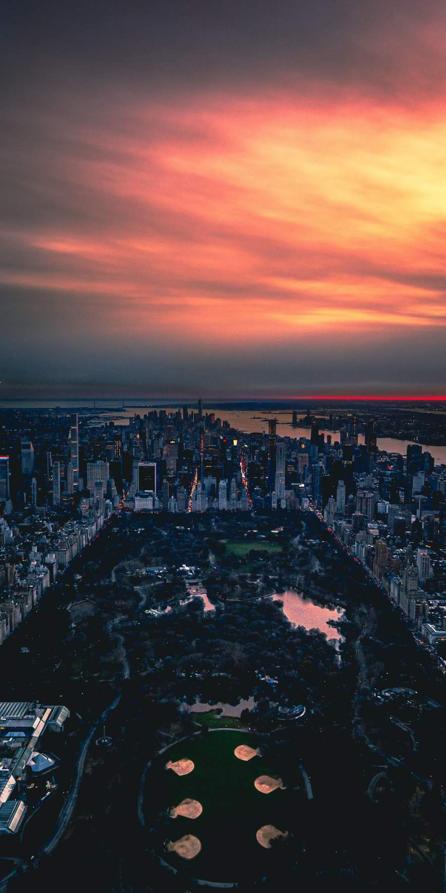 Central Park Evening 4K