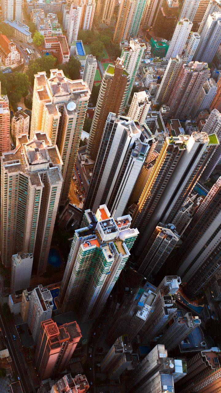 City Buildings iPhone Wallpaper