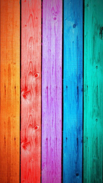 Colorful Wood Background iPhone Wallpaper