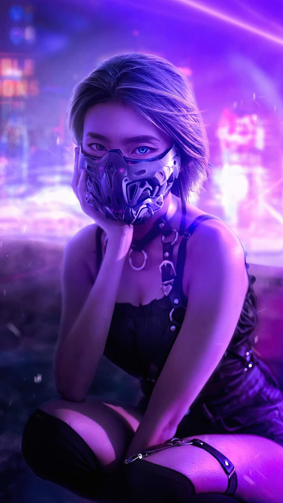 Cyberpunk Girl Mask