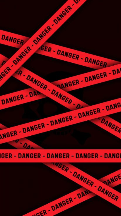 Danger Warning iPhone Wallpaper