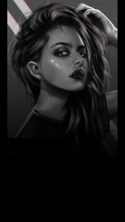 Dark Girl iPhone Wallpaper