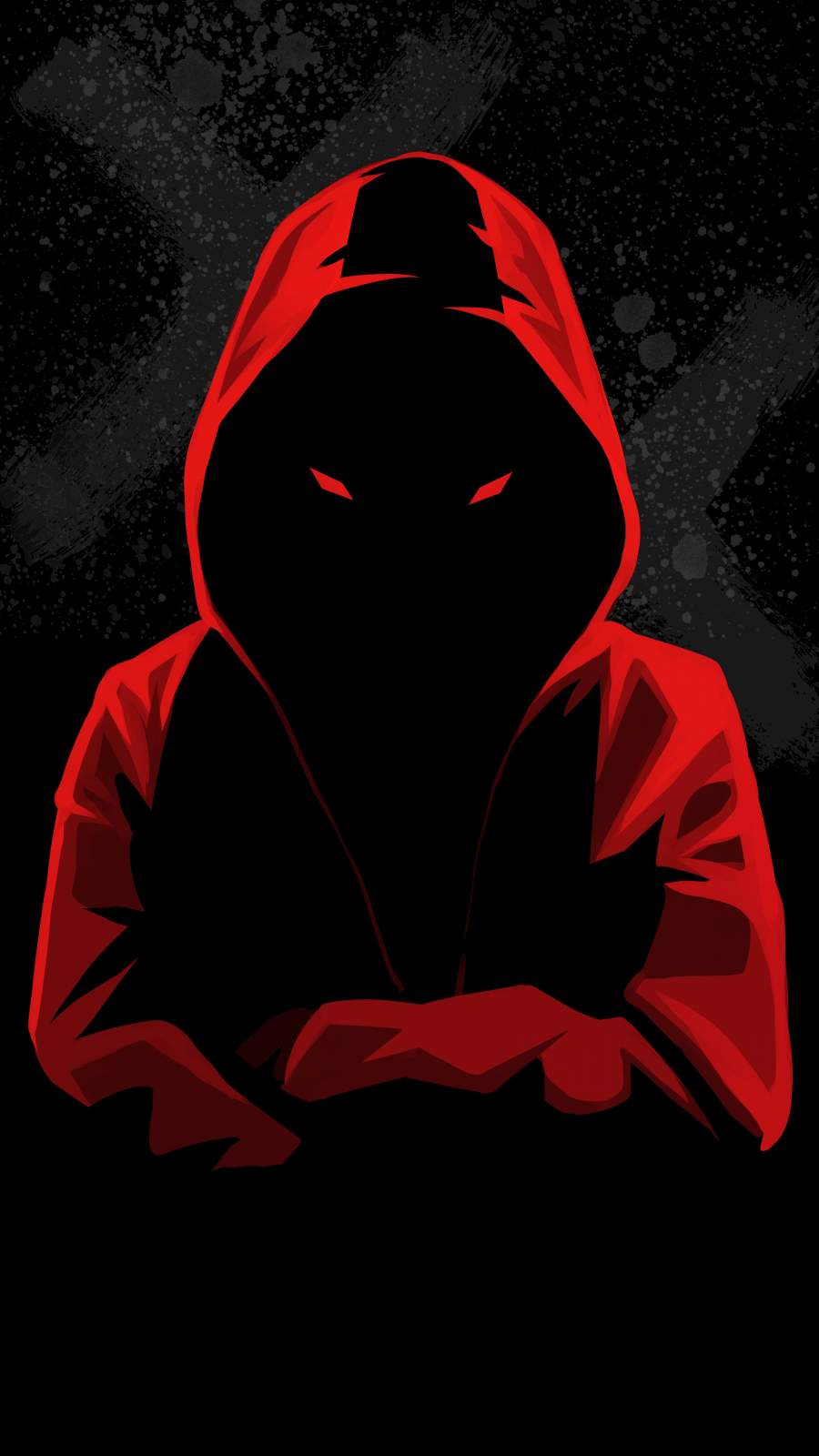 Dark Hoodie Person iPhone Wallpaper