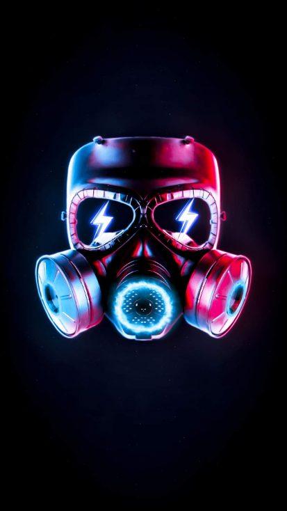 Dark Mask iPhone Wallpaper
