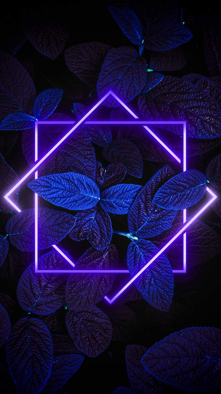 Dark Nature Neon Light iPhone Wallpaper