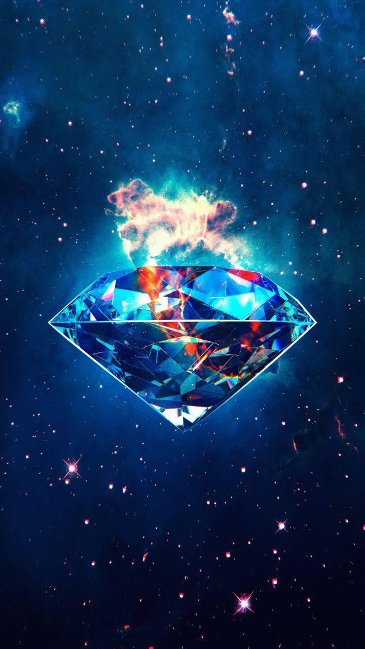 Diamond Nebula Space iPhone Wallpaper