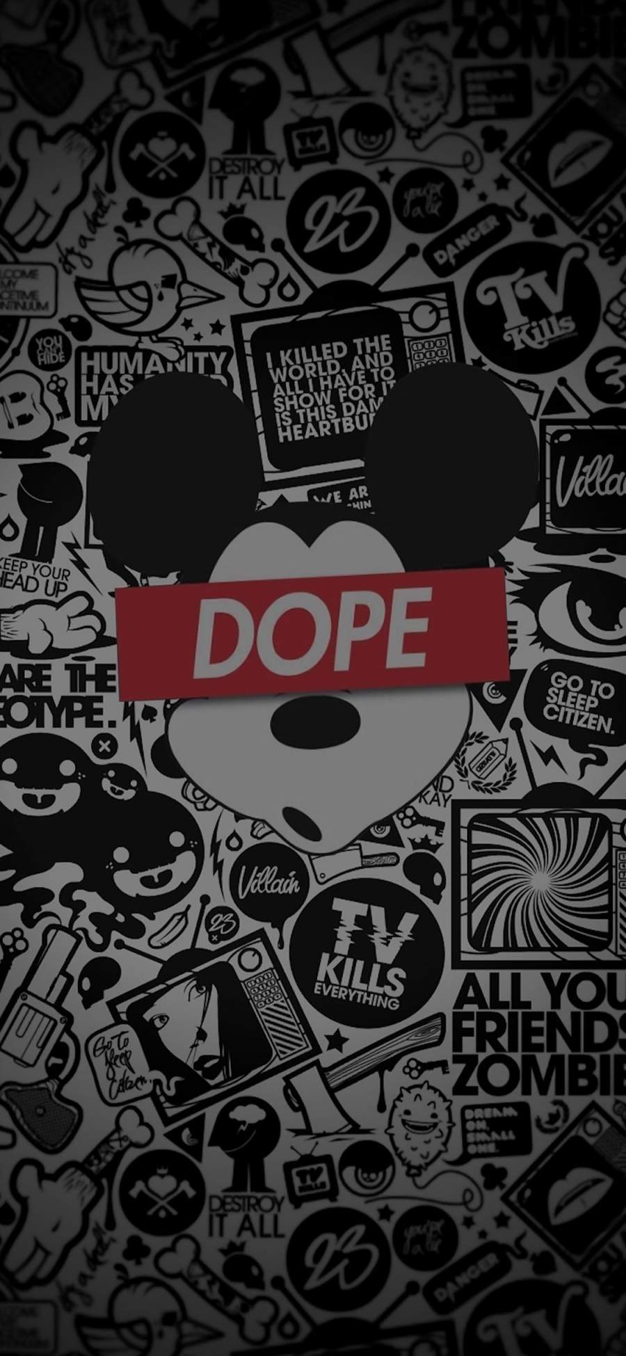 Dope Mickey Mouse iPhone Wallpaper