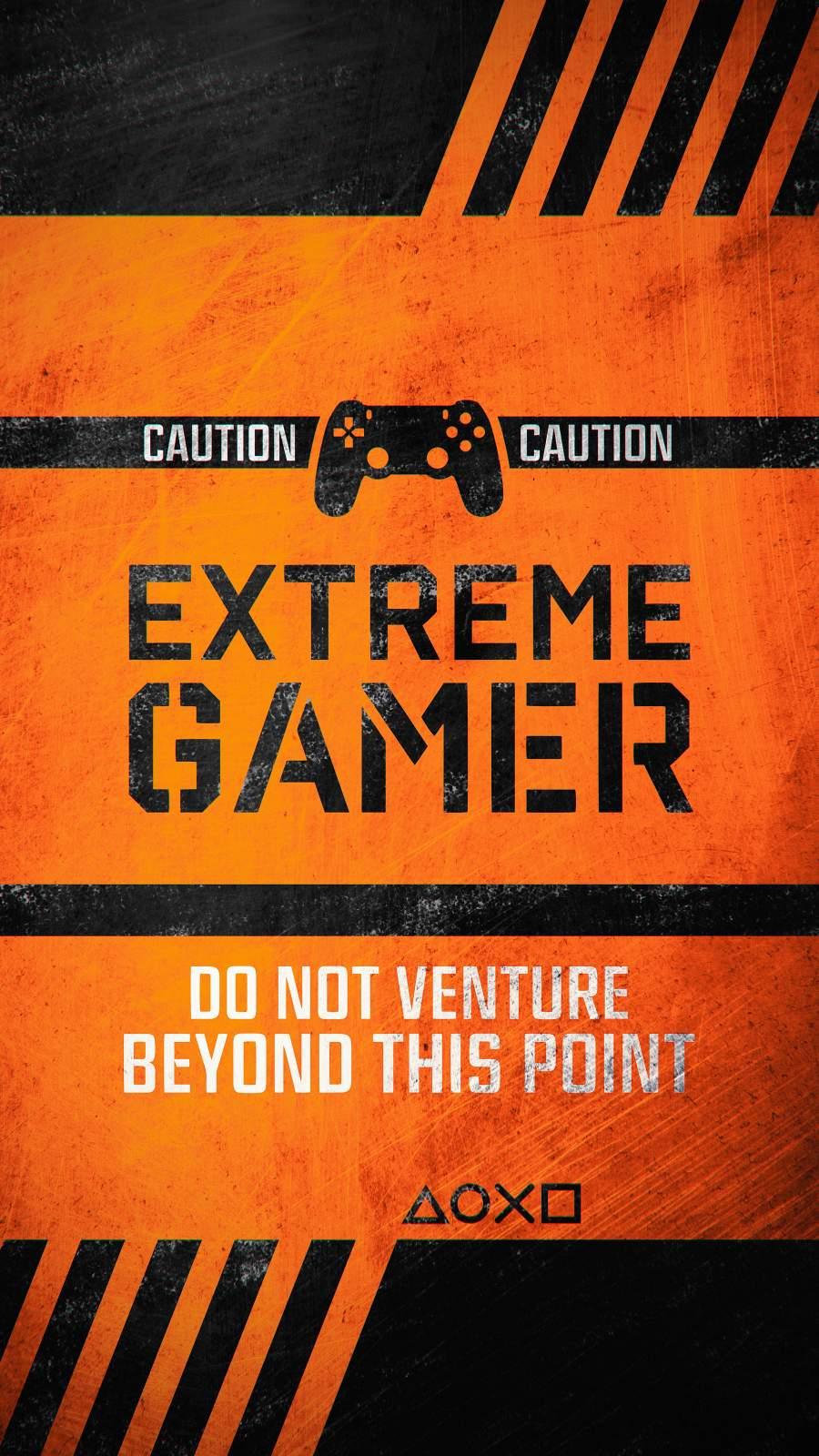 Extreme Gamer iPhone Wallpaper