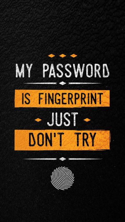 Fingerprint Password iPhone Wallpaper