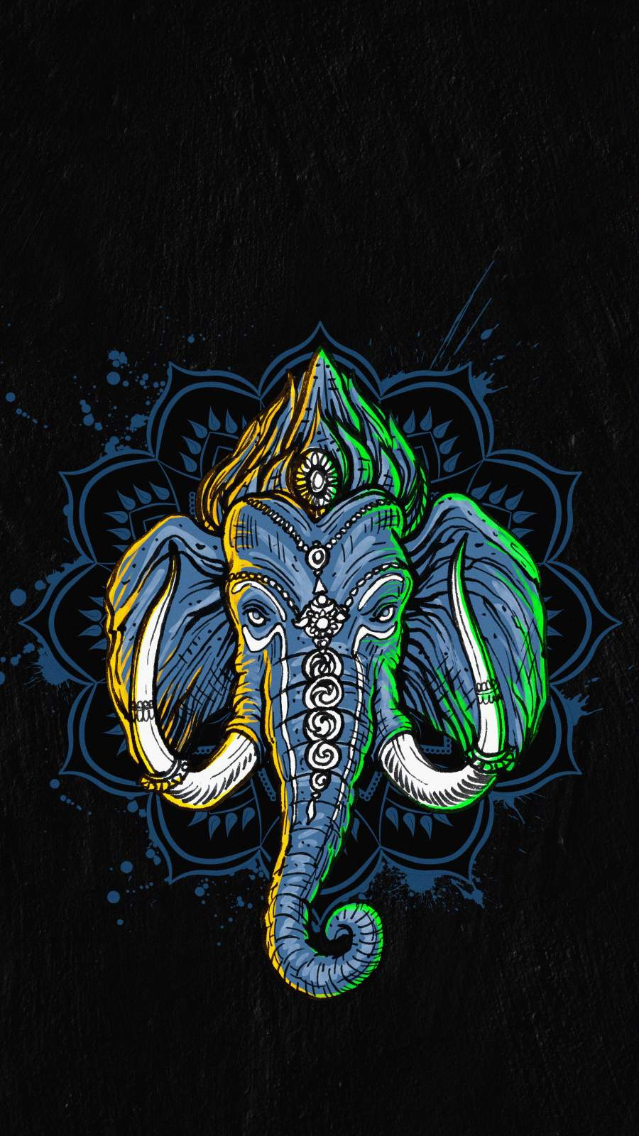 Ganpati HD iPhone Wallpaper