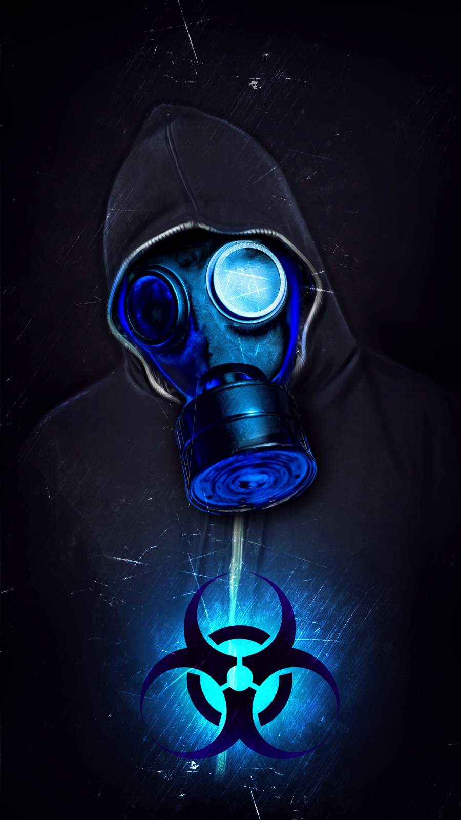 Gas Mask Guy iPhone Wallpaper