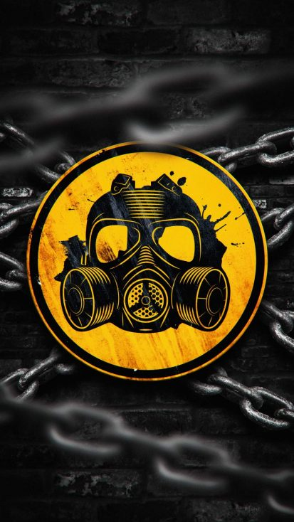 Gas Mask Logo iPhone Wallpaper