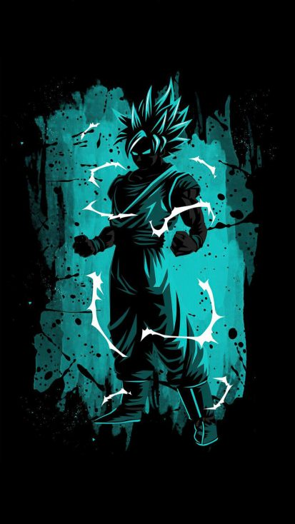 Goku Powers iPhone Wallpaper