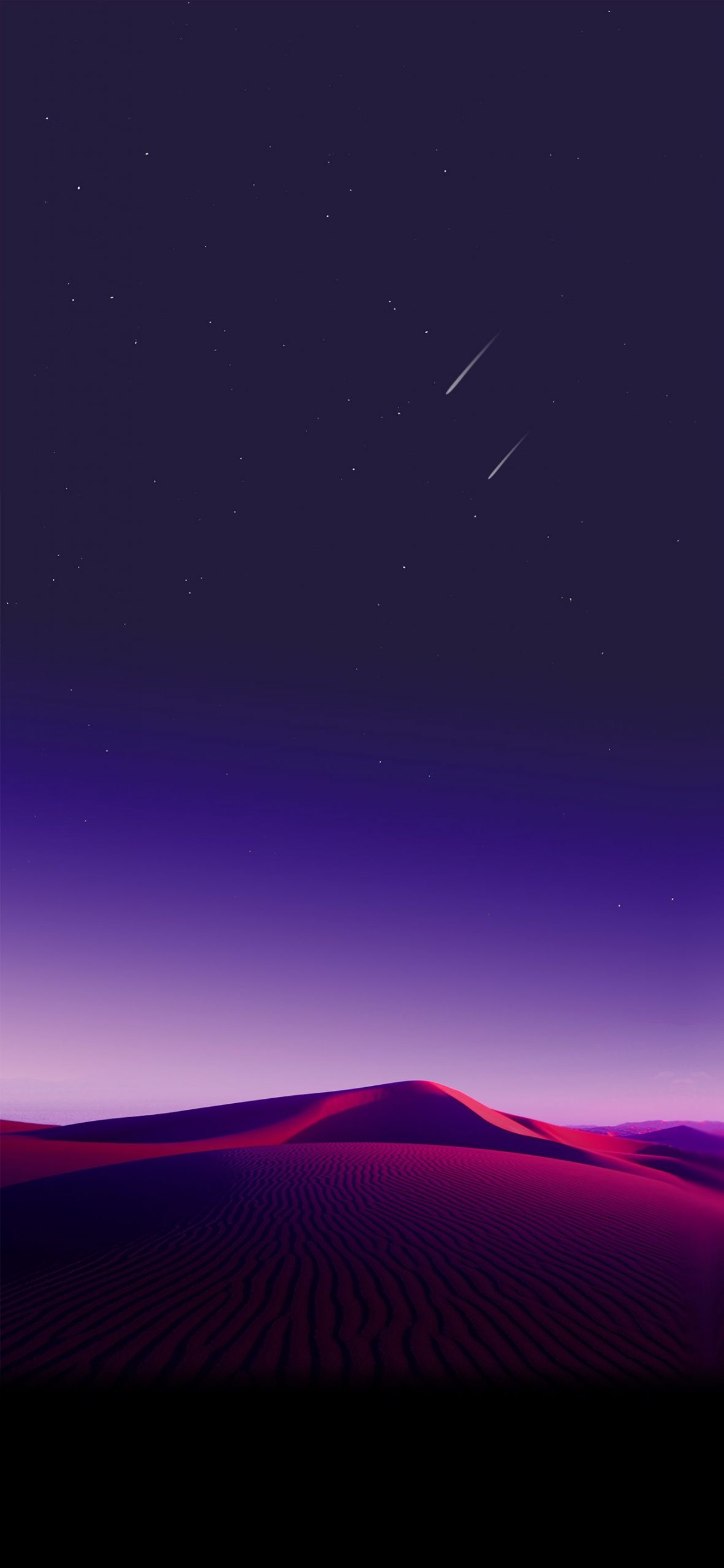 Gradient Sky Desert iPhone Wallpaper scaled