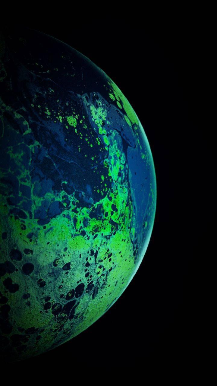 Green Planet iPhone Wallpaper