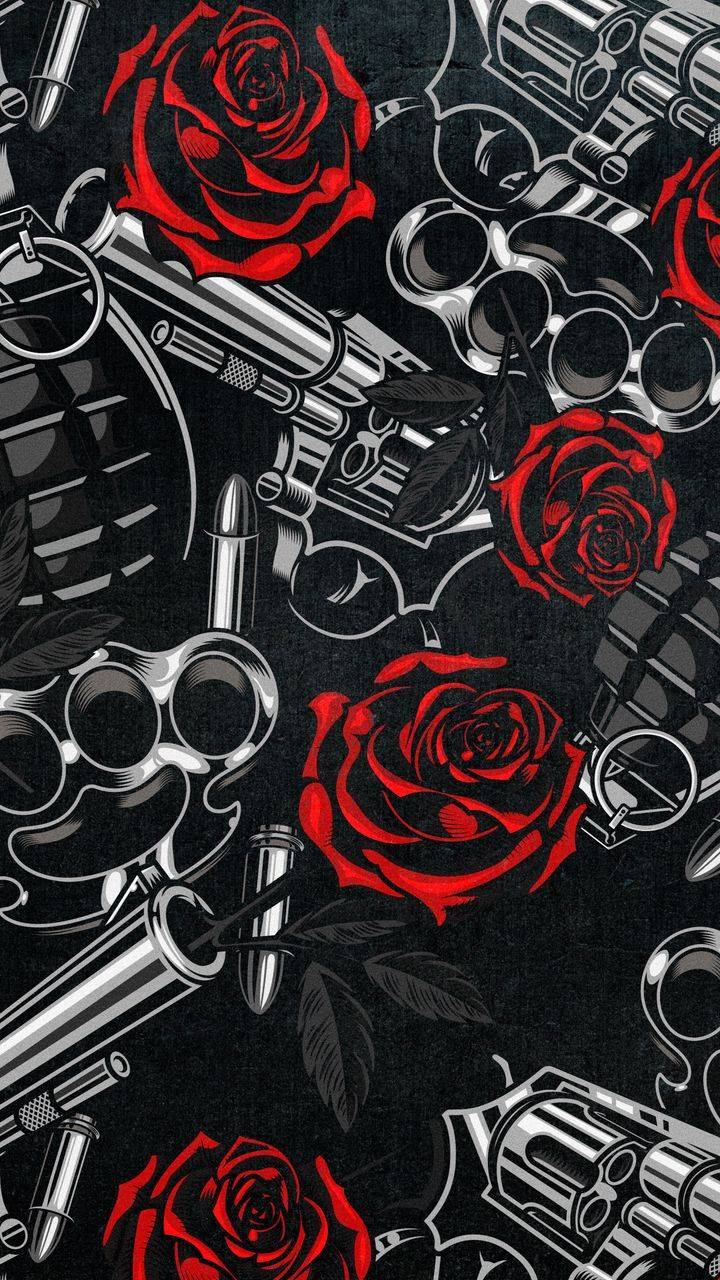 Guns and Roses iPhone Wallpaper