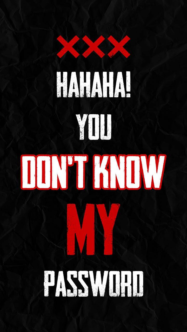 HAHA You Dont Know My Pasword