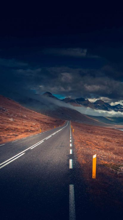 Iceland Road iPhone Wallpaper