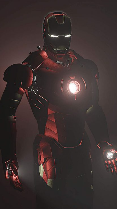 Iron Man Dark Glow iPhone Wallpaper