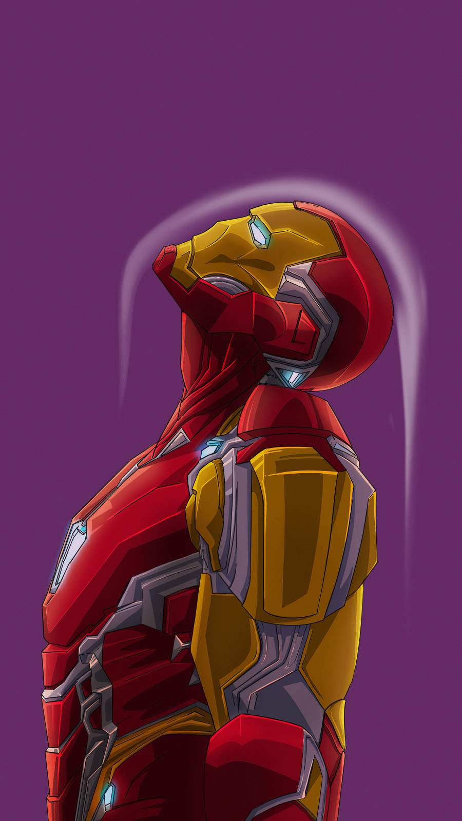 Iron Man Go Up iPhone Wallpaper