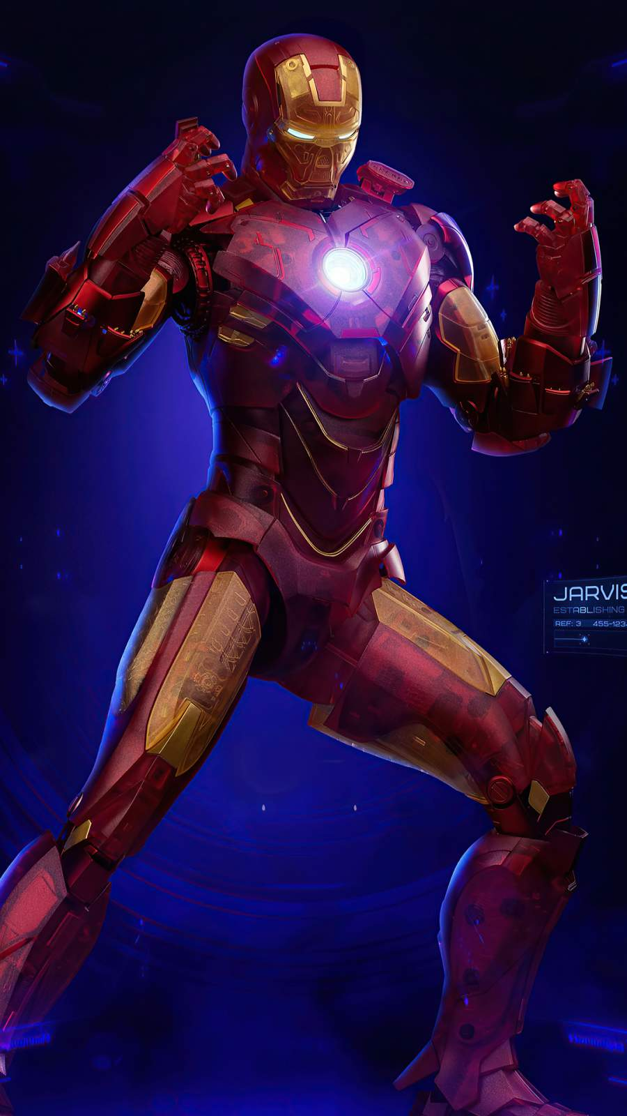 Iron Man Holographic Suit iPhone Wallpaper