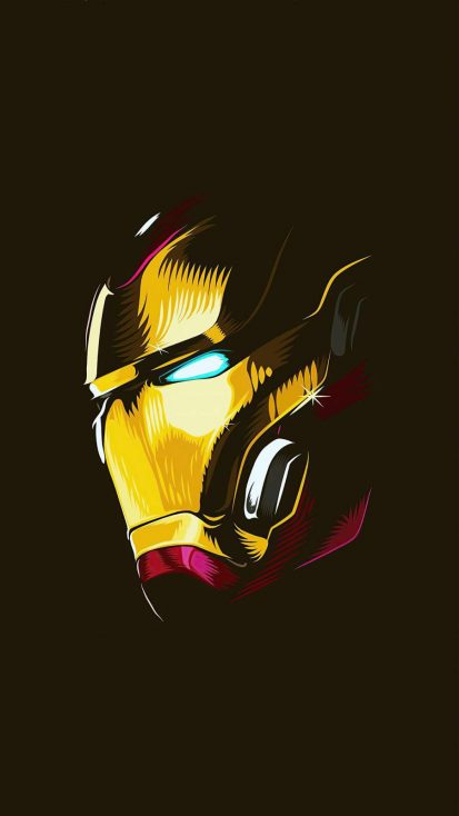 Iron Man Mask 4k iPhone Wallpaper