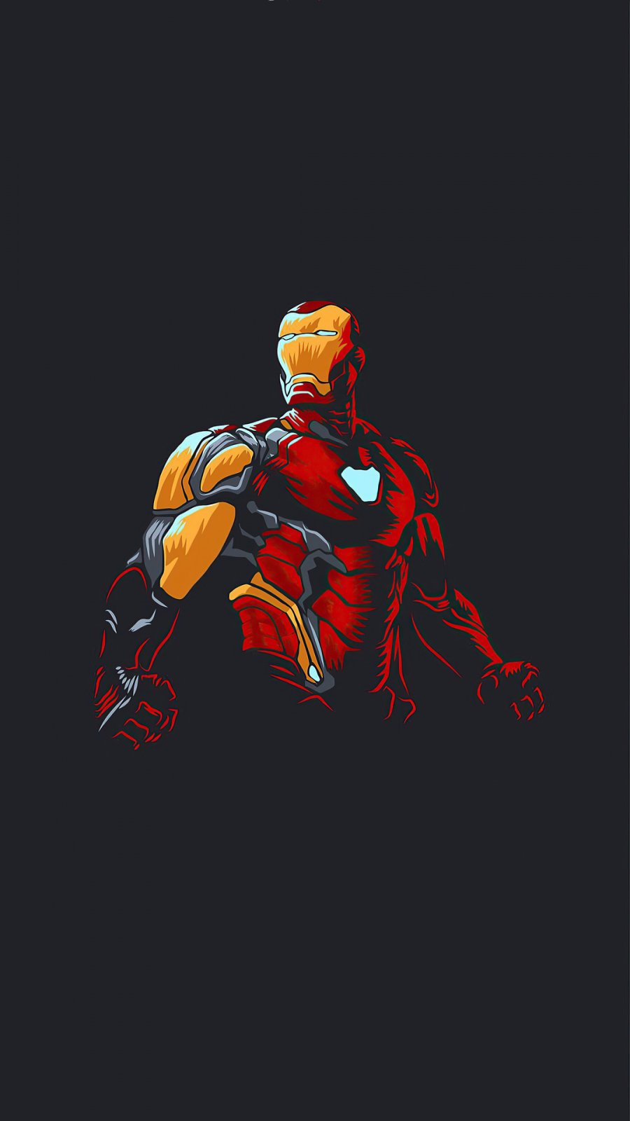 Iron Man New Minimalism iPhone Wallpaper
